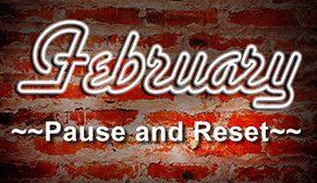 February on a brick wall
